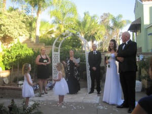 Backyard Wedding in Summer